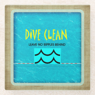 TOP Dive Clean No Ripples Glass Coaster