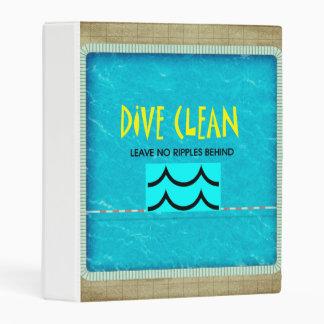 TOP Dive Clean No Ripples Mini Binder