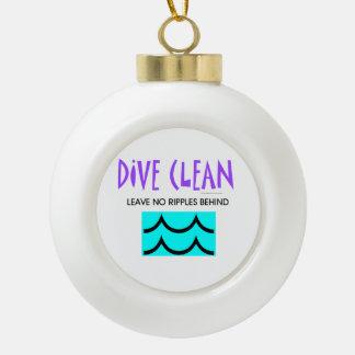 TOP Dive Clean No Ripples Ceramic Ball Christmas Ornament