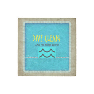 TOP Dive Clean No Ripples Stone Magnet