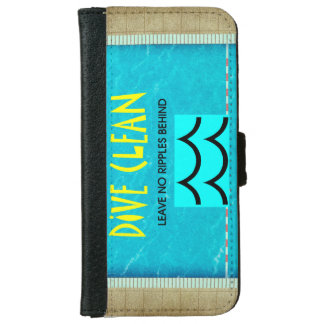 TOP Dive Clean No Ripples Wallet Phone Case For iPhone 6/6s
