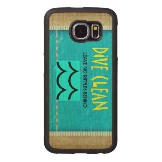 TOP Dive Clean No Ripples Wood Phone Case