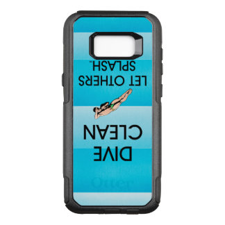 TOP Dive Clean OtterBox Commuter Samsung Galaxy S8+ Case