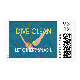 TOP Dive Clean Postage Stamp