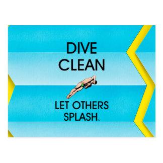 TOP Dive Clean Postcard