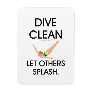 TOP Dive Clean (W) Rectangular Photo Magnet