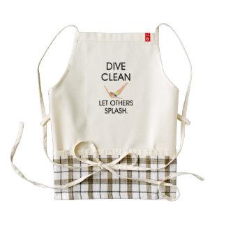 TOP Dive Clean Zazzle HEART Apron