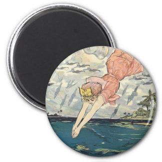 TOP Dive Girl Magnet
