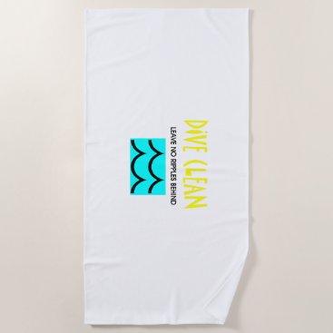 TOP Diving No Ripples Beach Towel