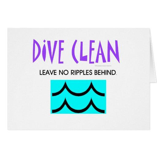 TOP Diving No Ripples Card