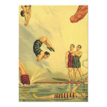 TOP Diving Old School 5x7 Paper Invitation Card