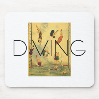 TOP Diving Old School Mouse Pad