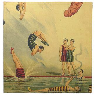 TOP Diving Old School Napkin
