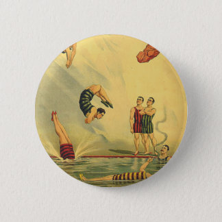 TOP Diving Old School Pinback Button