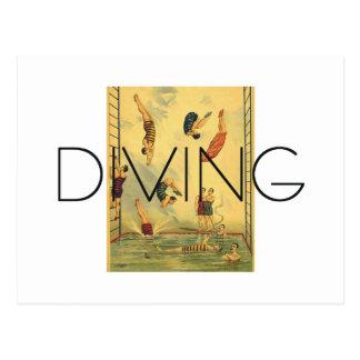 TOP Diving Old School Postcard