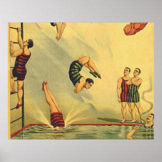 TOP Diving Old School Poster