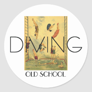 TOP Diving Old School Sticker