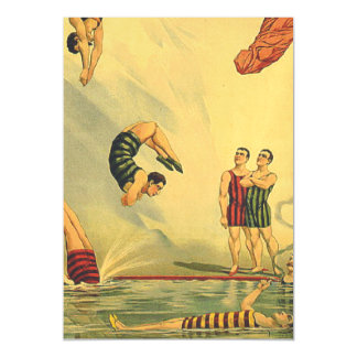 TOP Diving Old School Magnetic Invitations