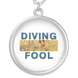 TOP Diving Slogan Silver Plated Necklace