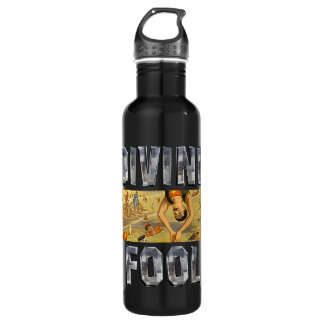 TOP Diving Slogan Stainless Steel Water Bottle