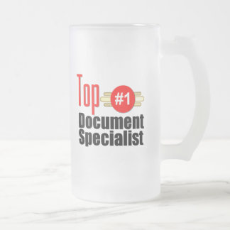 Top Document Specialist Frosted Glass Beer Mug