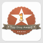 Top Dog Award Sticker