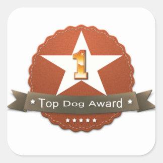 Top Dog Award Sticker