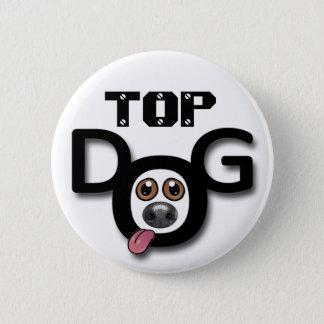 Top Dog Button Badge