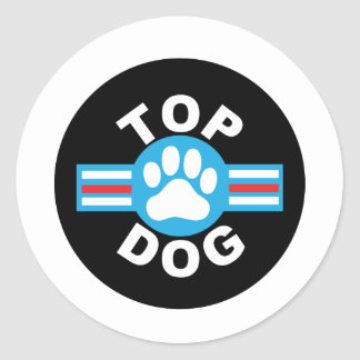 top dog classic round sticker