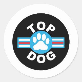 top dog classic round sticker