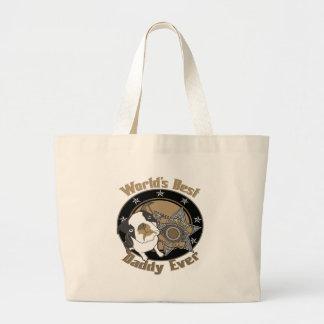 Top Dog Daddy Large Tote Bag