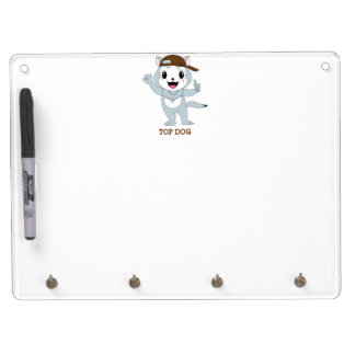 Top Dog™ Dry Erase Board With Keychain Holder