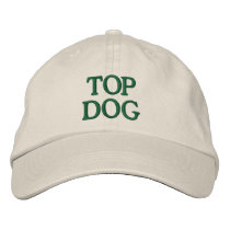 Top Dog Embroidered Baseball Cap