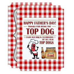 Top Dog Father's Day Party Invitations