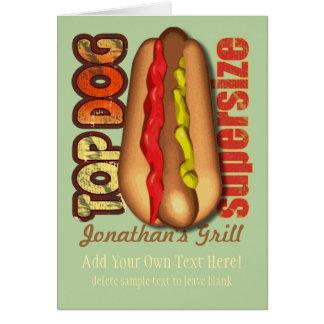 Top Dog Hotdog Personalized Card