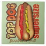 Top Dog Hotdog Personalized Tiles