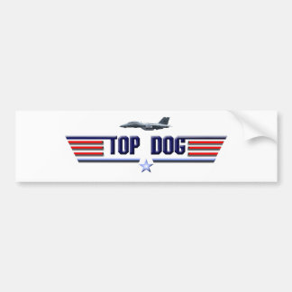 Top Dog Logo Car Bumper Sticker