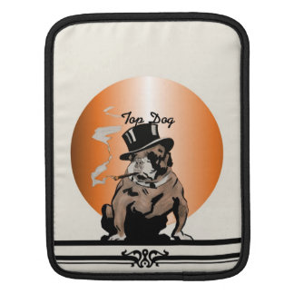 Top Dog Sleeve Vintage Bulldog with Cigar Sleeve For iPads