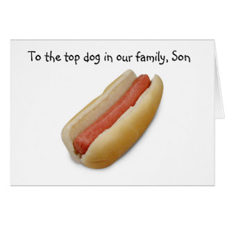 TOP DOG (SON) GRADUATION FROM PARENTS GREETING CARD