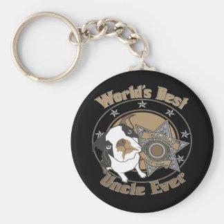 Top Dog Uncle Basic Round Button Keychain