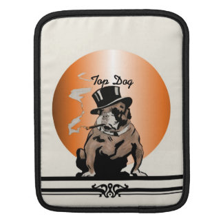 Top Dog Vintage Bulldog with Cigar and Top Hat Sleeve For iPads