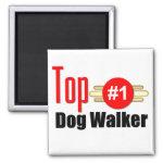 Top Dog Walker Fridge Magnets