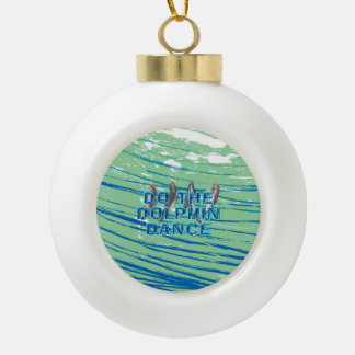 TOP Dolphin Dance Ceramic Ball Christmas Ornament