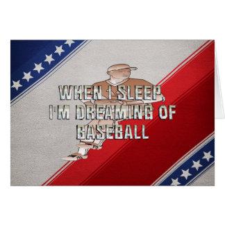 TOP Dreaming of Baseball Greeting Card
