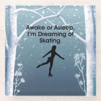 TOP Dreaming of Skating Glass Coaster
