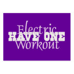 TOP Electric Workout Large Business Cards (Pack Of 100)