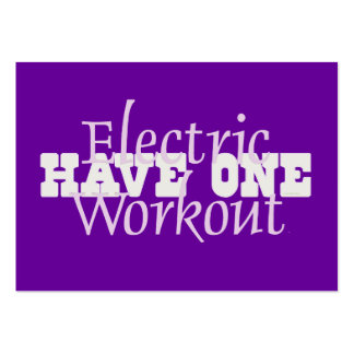 TOP Electric Workout Business Card Template