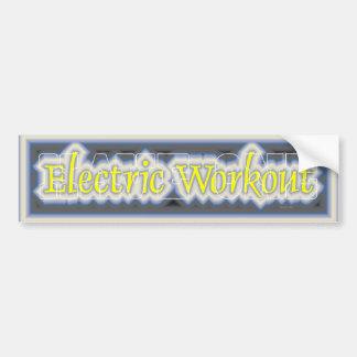 TOP Electric Workout Car Bumper Sticker