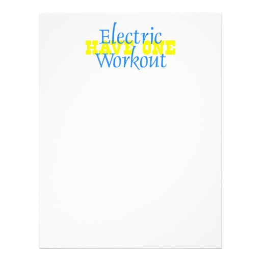 TOP Electric Workout Personalized Flyer
