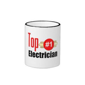 Top Electrician Ringer Coffee Mug